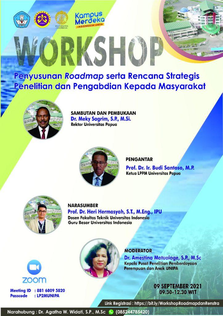 Workshop Penyusunan Roadmap serta Rencana Strategis Penelitian dan Pengabdian Kepada Masyarakat